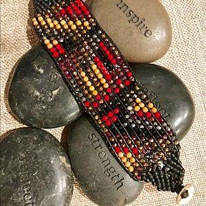 Jewelry - Beaded weave cuff bracelet